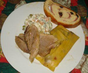 Hallaca venezolana como plato navidelño